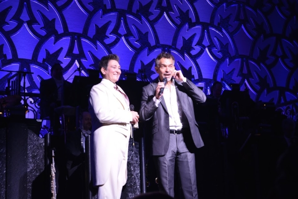 "Actors Fund chairman Brian Stokes Mitchell introduces k.d. lang's encore performance of ""Hallelujah"" following her performance in After Midnight."