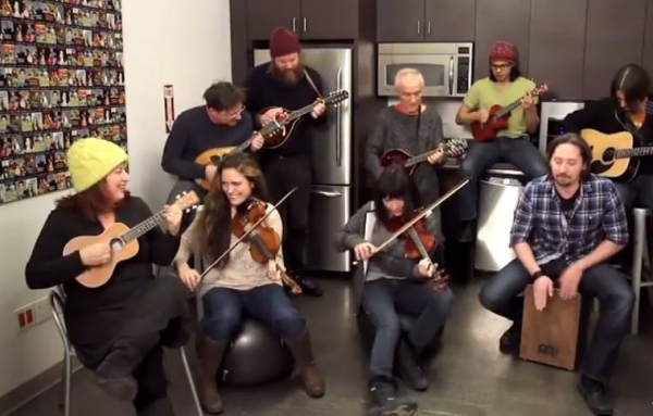 "The band from Once performs ""Home Boys Home"" as part of TheaterMania's Kitchen Concerts series."
