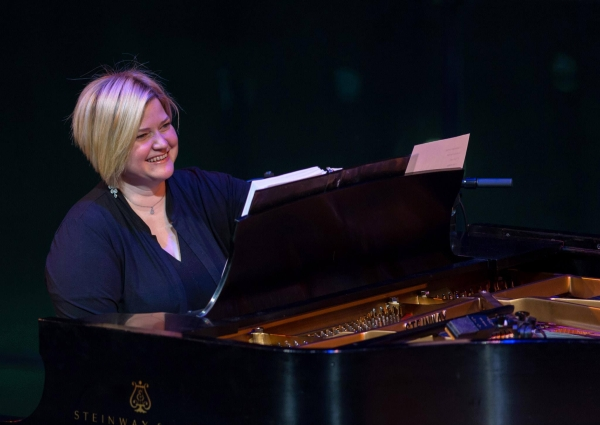 Mary-Mitchell Campbell performs in an American Songbook concert with Jonathan Groff at Lincoln Center.