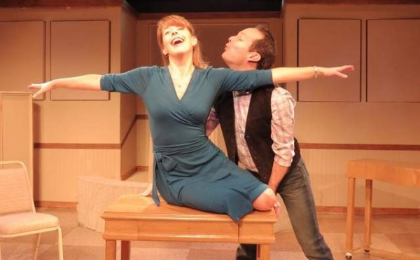 James LaVerdiere and Trisha Rapier in the New Jersey Repertory Company world premiere production of Date of a Lifetime.