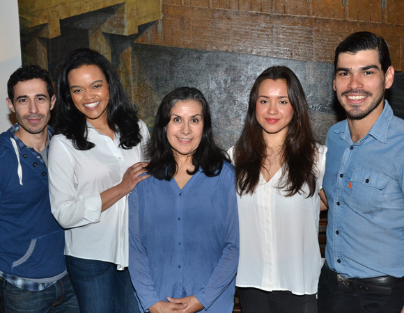 Jose Joaquin Perez, Danielle Davenport, Socorro Santiago, Carmen Zilles, and Raúl Castillo make up the cast of Adoration of the Old Woman at INTAR beginning March 13.