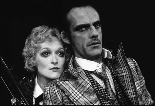 Meryl Streep and Christopher Lloyd in the 1976 Broadway production of Happy End.