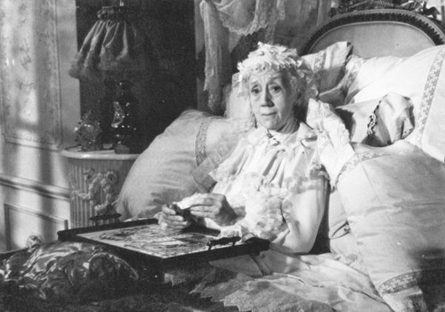 Naima Wifstrand as Madame Armfeldt in the film Smiles of a Summer Night, the basis for the musical A Little Night Music.