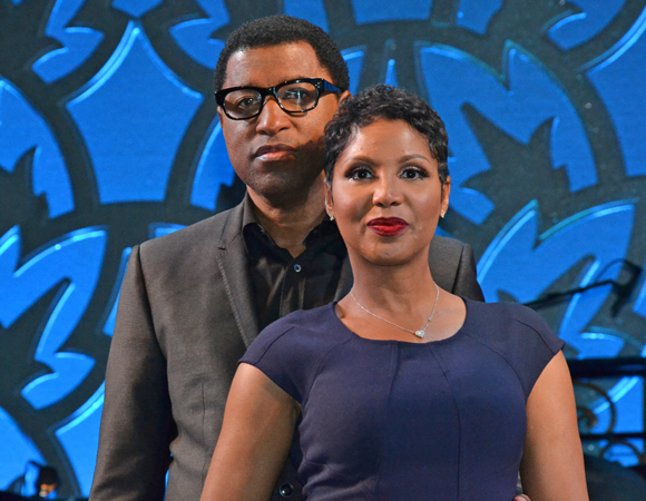 "Kenny ""Babyface"" Edmonds and Toni Braxton take the stage at the Brooks Atkinson Theatre."