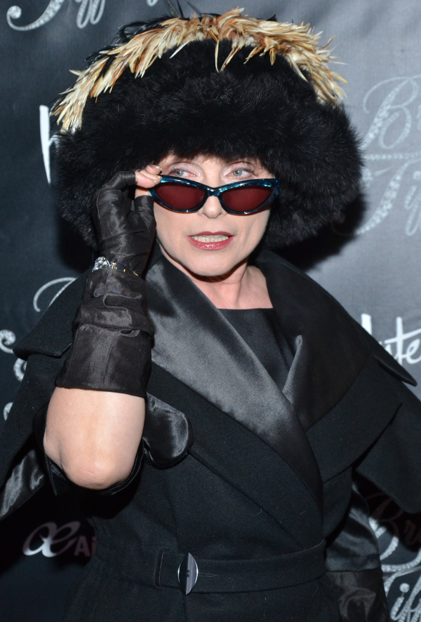 Deborah Harry of Blondie looking fabulous at the opening of Broadway's Breakfast at Tiffany's in 2013.