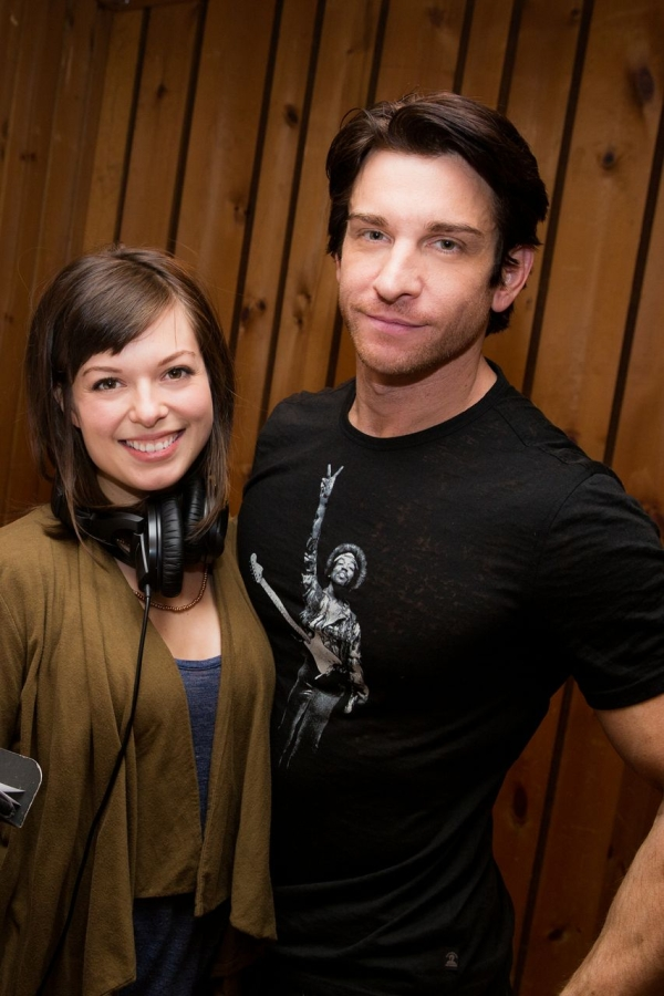 Margo Seibert and Andy Karl step into the recording studio to lay down tracks for the original Broadway cast album of Rocky.