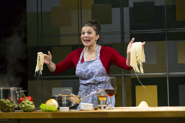Antoinette LaVecchia as Giulia Melucci in I Loved, I Lost, I Made Spaghetti, directed by Rob Ruggiero, at George Street Playhouse.