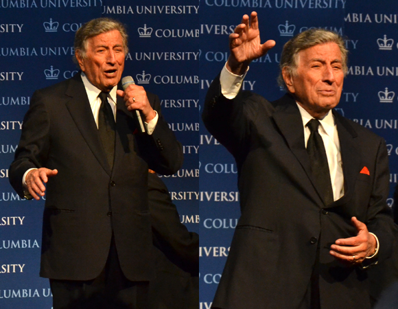 "Grammy winner Tony Bennett takes the stage to perform ""The Best Is Yet to Come"" and ""Fly Me to the Moon."""