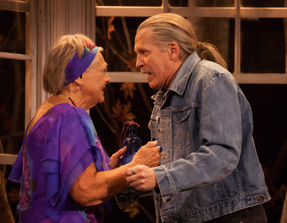 Estelle Parsons and Stephen Spinella play an estranged mother and son in Eric Coble's The Velocity of Autumn, directed by Molly Smith, at Broadway's Booth Theatre.