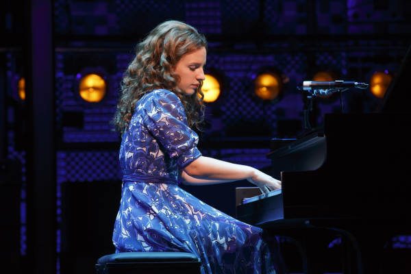 Jessie Mueller plays Carole King in Beautiful — The Carole King Musical, directed by Marc Bruni, at the Stephen Sondheim Theatre.