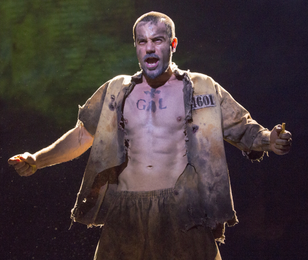 Ramin Karimloo plays a grittier, sexier Jean Valjean in the latest Broadway revival of Claude-Michel Schönberg and Alain Boublil's Les Misérables, directed by Laurence Connor and James Powell, at the Imperial Theatre.