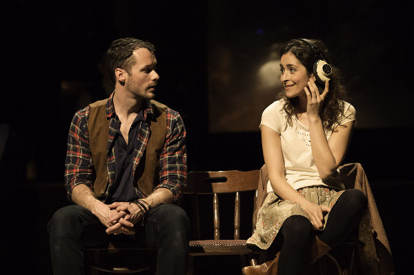 Declan Bennett and Zrinka Cvitešić in the West End production of Once, playing at the Phoenix Theatre.