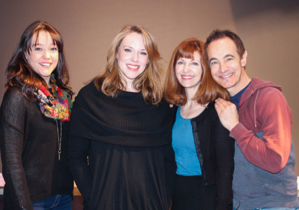 Cameron Adams, Emily Skinner, Lynn Halliday, and Jason Graae star in Inventing Mary Martin, written and directed by Stephen Cole, at off-Broadway's York Theatre Company.