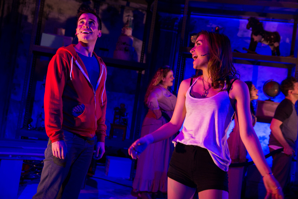 Matt Doyle as Jasper and Allison Scagliotti as Gretchen in Ryan Scott Oliver and Hunter Foster's Jasper in Deadland, directed by Brandon Ivie, at Prospect Theatre Company.