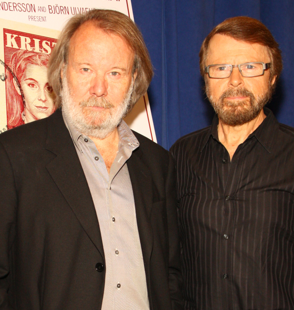 ABBA founders Benny Andersson and Björn Ulvaeus will perform with the London cast of their musical Mamma Mia! at the 2014 Olivier Awards.