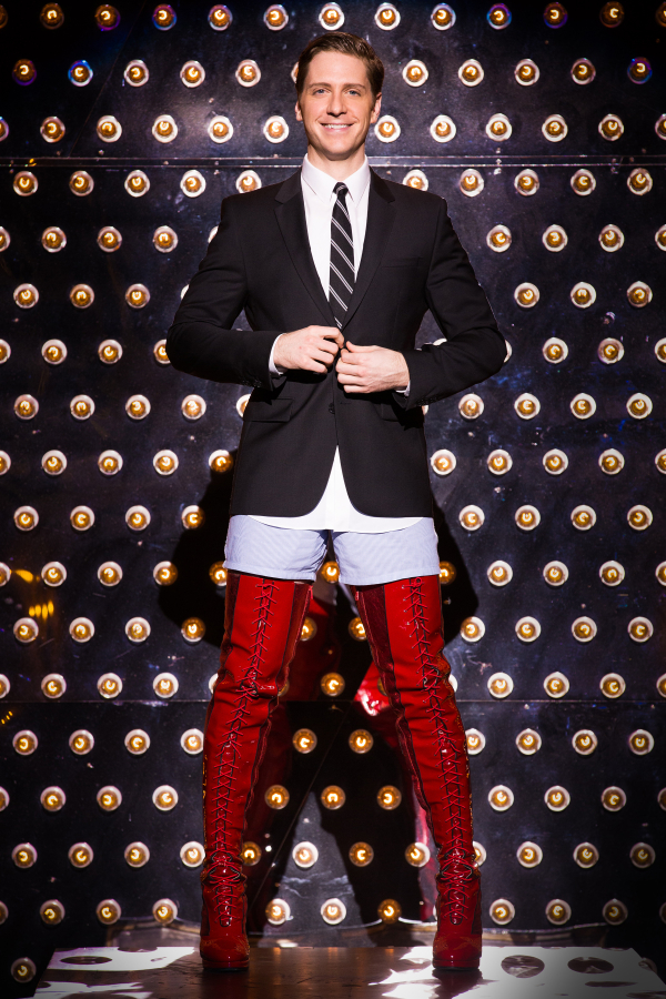Andy Kelso plays shoe factory owner Charlie Price in Broadway's Kinky Boots.