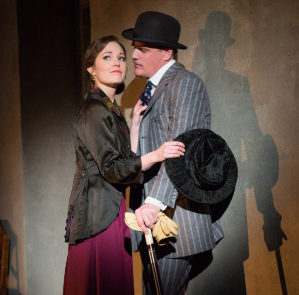 Michael Park and Laura Osnes play Macheath and Polly in Atlantic Theater Company's revival of Kurt Weill and Bertolt Brecht's The Threepenny Opera, directed by Martha Clarke, at the Atlantic Theatre Company.