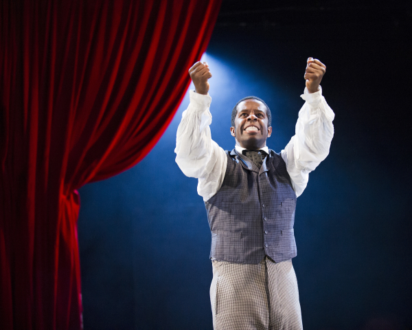Adrian Lester as Ira Aldridge in Lolita Chakrabarti's Red Velvet, directed by Indhu Rubasingham, at St. Ann's Warehouse.