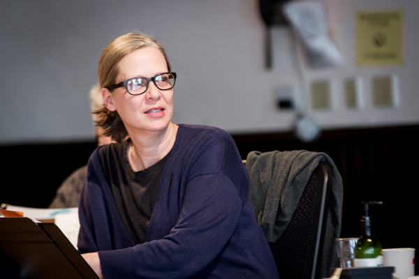 Two-time Tony nominee Amy Morton in rehearsals for Mona Mansour's The Way West, which she is directing at Chicago's Steppenwolf Theatre Company.