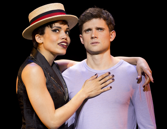 Ciara Renée and Kyle Dean Massey take on the roles of the Leading Player and Pippin in Pippin at the Music Box Theatre.