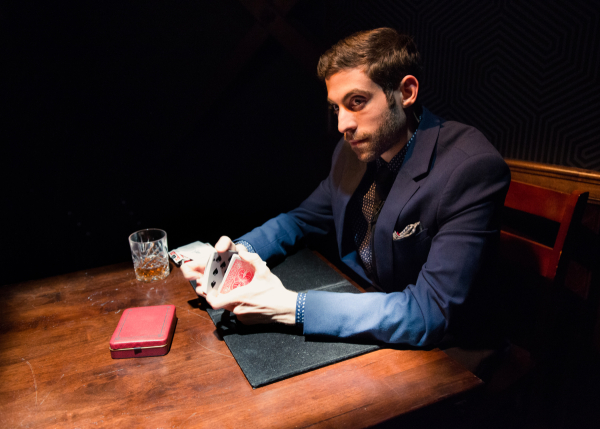 Danny DePonto in Charlatan, directed by Andrew Neisler, at Ars Nova.