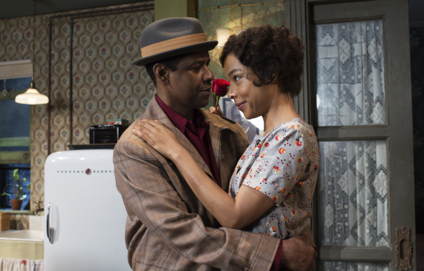 Denzel Washington and Sophie Okonedo star as Walter and Ruth Younger in Lorraine Hansberry's A Raisin in the Sun at the Ethel Barrymore Theatre.