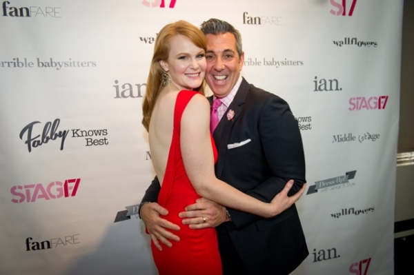 Kate Baldwin (Big Fish) gets cozy with Dress Up With George B. Style's George Brescia.