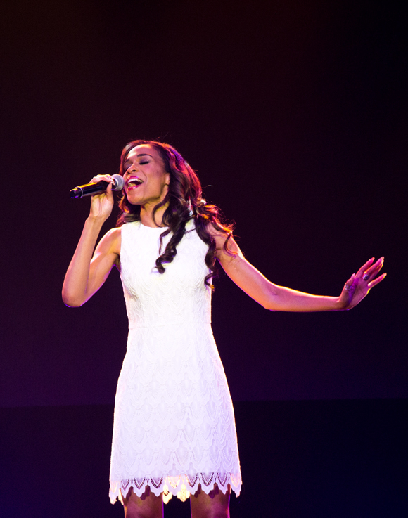 "Michelle Williams performs ""I Don't Know How to Love Him"" to promote the upcoming Jesus Christ Superstar arena tour."
