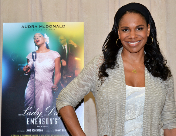Audra McDonald stars in Lady Day at Emerson's Bar & Grill, directed by Lonny Price, at the Circle in the Square theater.