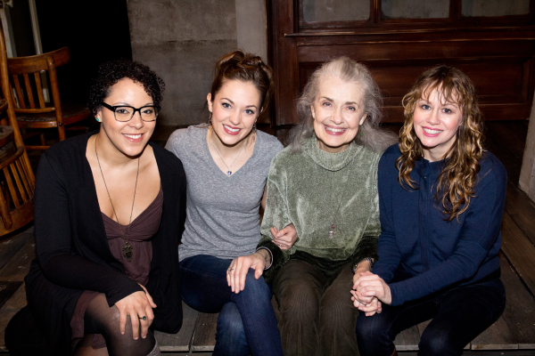 Lilli Cooper, Laura Osnes, Mary Beth Peil, and Sally Murphy star in Martha Clarke's production of The Threepenny Opera at the Atlantic Theatre Company.