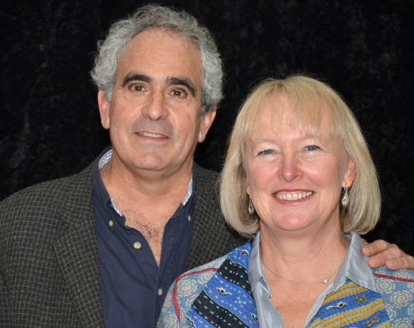 Robert Sternin and Prudence Fraser are the authors of Under My Skin, a new comedy at the Little Shubert Theatre.