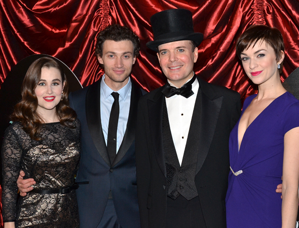 The principal cast of A Gentleman's Guide to Love and Murder, which includes Lauren Worsham, Bryce Pinkham, Jefferson Mays, and Lisa O'Hare, will perform at the 92nd Street Y on May 11.