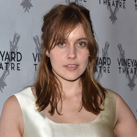 Greta Gerwig replaces Maggie Gyllenhaal as Becky in MCC's production of Penelope Skinner's The Village Bike, directed by Sam Gold, at the Lucille Lortel Theatre.