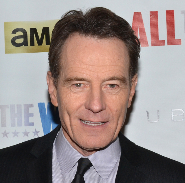 Bryan Cranston won Boston's IRNE Award for his performance in Robert Schenkkan's drama All the Way at the American Repertory Theatre. He is currently appearing in the play at Broadway's Neil Simon Theatre.