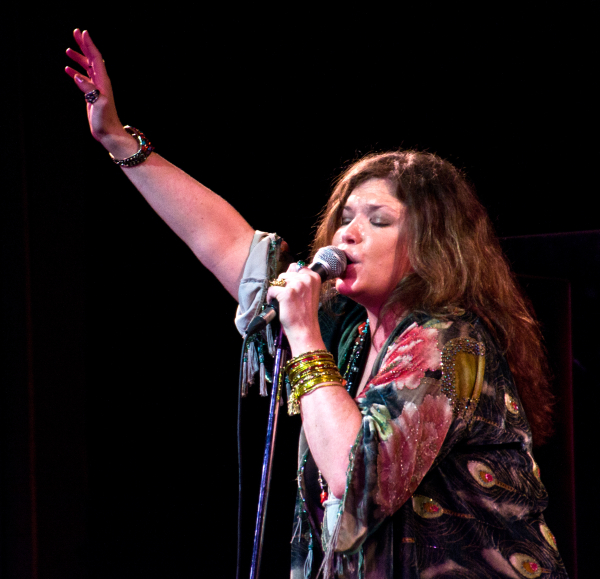 Mary Bridget Davies played Janis Joplin in the Broadway mounting of Randy Johnson's A Night With Janis Joplin at the Lyceum Theatre.