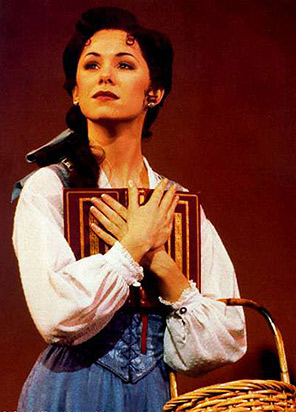 Susan Egan in the original Broadway production of Beauty and the Beast.