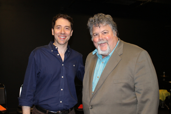 The Homework Machine book writer and lyricist Mark Cabaniss with composer Keith Herrmann.