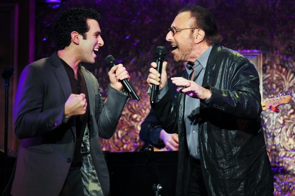 Jarrod Spector and Barry Mann perform together onstage at 54 Below.