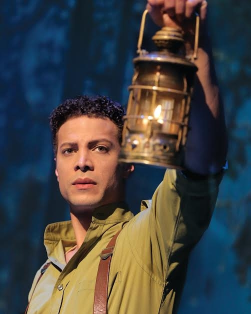 American Idol finalist and Broadway vet Justin Guarini as Fiyero in Wicked at the Gershwin Theatre.