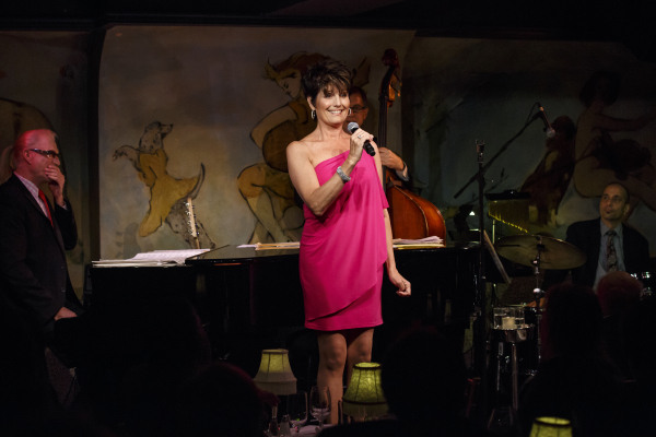Lucie Arnaz is accompanied by Ron Abel, Tom Hubbard, and Ray Marchica in Spring Is Here, her debut show at Café Carlyle.
