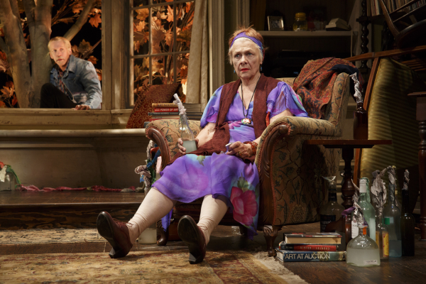 Estelle Parsons (right) as Alexandra with Stephen Spinella as Chris in Eric Coble's The Velocity of Autumn, directed by Molly Smith, at Broadway's Booth Theatre.