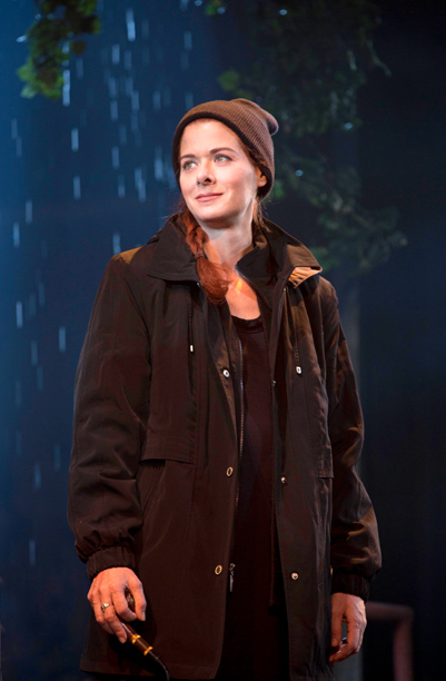 Debra Messing as Rosemary Muldoon in John Patrick Shanley's Outside Mullingar, directed by Doug Hughes, at Broadway's Samuel J. Friedman Theatre,