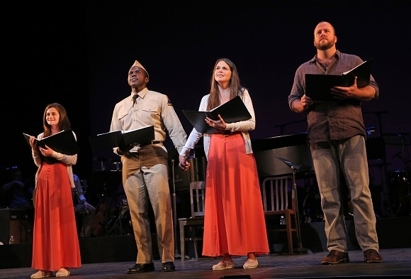 Emerson Steele, Joshua Henry, Sutton Foster, and Chris Sullivan in <i>Violet</i>