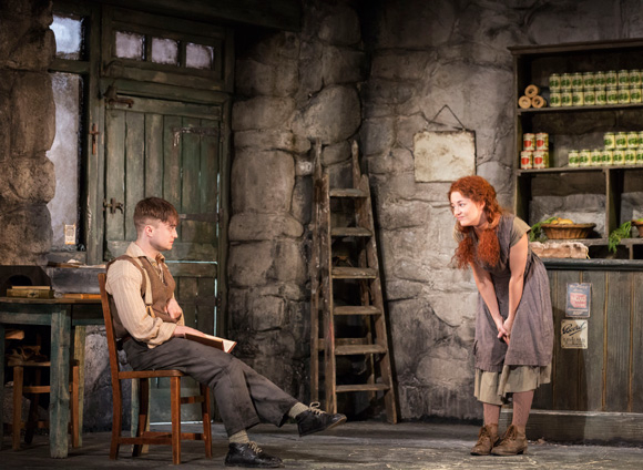 Daniel Radcliffe and Sarah Greene star in the Broadway debut of Martin McDonagh's The Cripple of Inishmaan, directed by Michael Grandage, at the Cort Theatre.