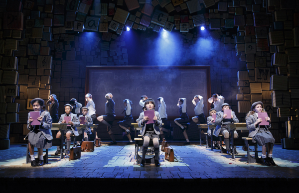 A scene from Broadway's Matilda, where free copies of Shakespeare's sonnets will be placed on the seats on April 23.