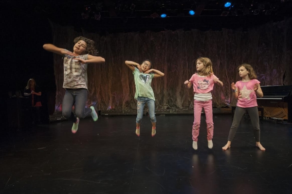 Children perform as part of Bay Street Theater's Summer Kids Theater Camp.