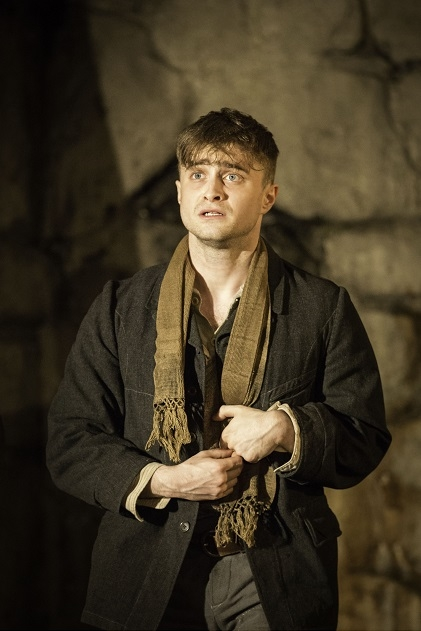 Daniel Radcliffe in Martin McDonagh's The Cripple of Inishmaan, directed by Michael Grandage, at the Cort Theatre  on Broadway.