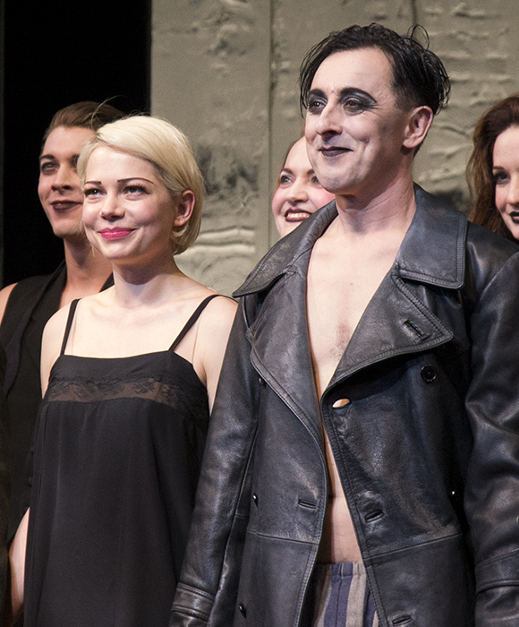 Michelle Williams and Alan Cumming take their bow on the opening night of Cabaret at Studio 54.
