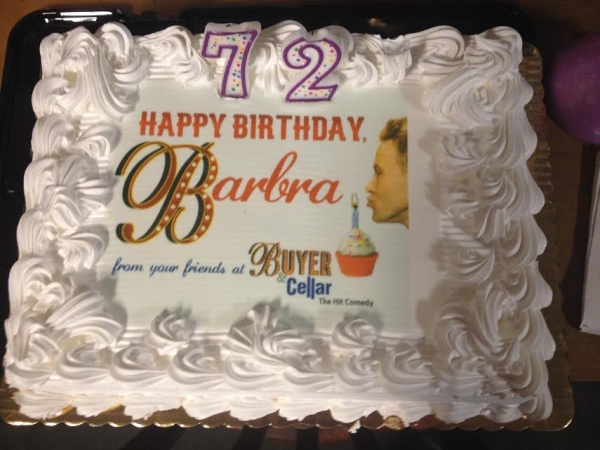 Off-Broadway's Buyer & Cellar had a special cake made for the birthday of Barbra Streisand.