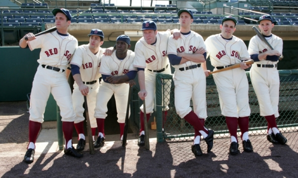 Promo photograph for Damn Yankees — The Red Sox Version at Goodspeed Musicals in East Haddam, CT.